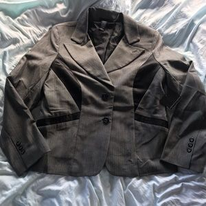 NWT Gray Fitted Blazer or Suit Jacket